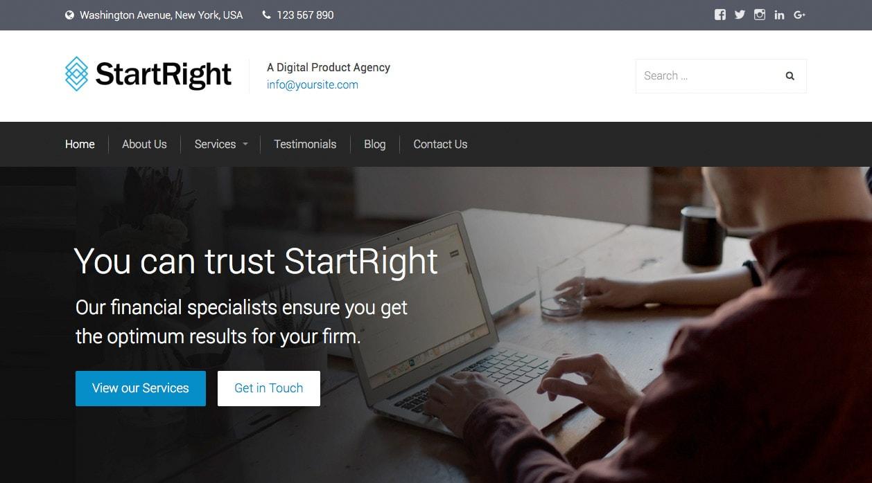 StartRight Business WordPress Theme