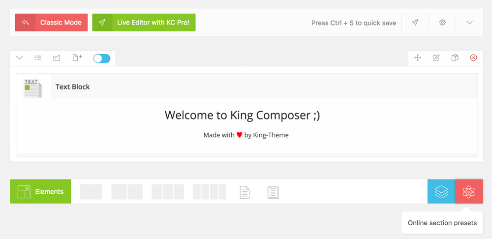 King Composer - a great Page Builder for WordPress