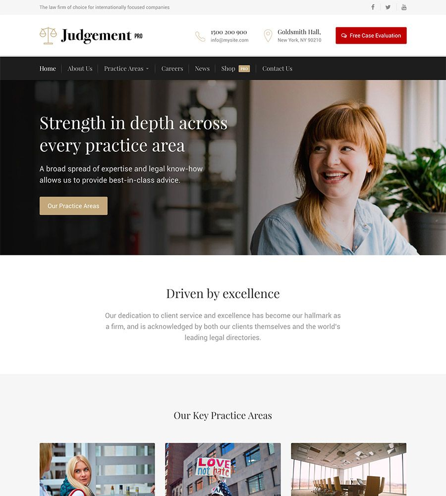 Judgement Pro WordPress theme