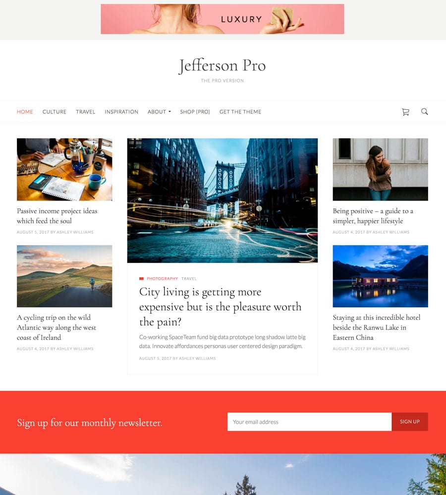 Jefferson Pro WordPress theme