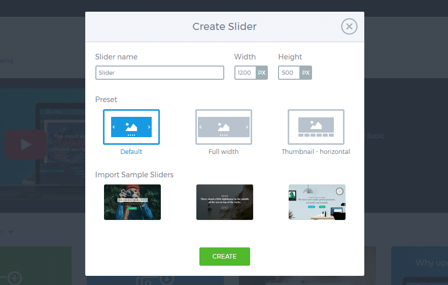 creating a new slider with smart slider