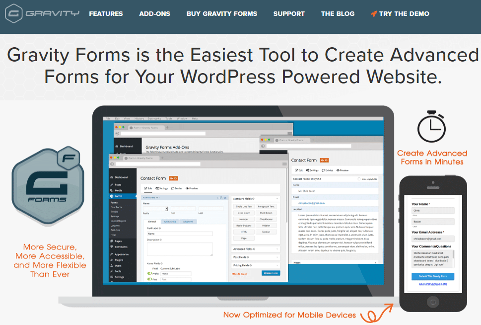 gravity forms is one of the most successful wordpress businesses