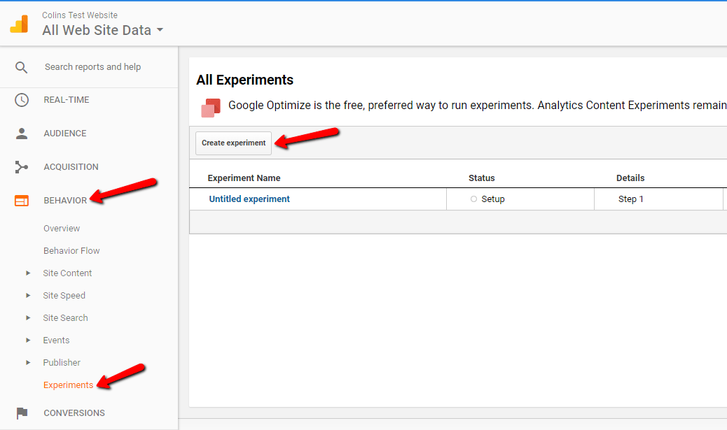 google analytics content experiments wordpress