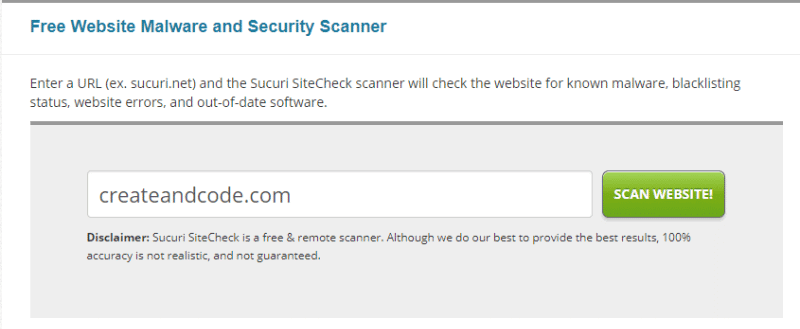 sucuri security scanner