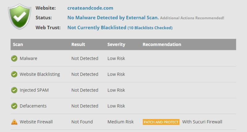 sucuri malware check
