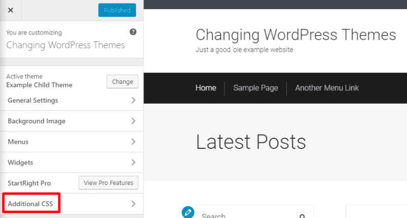wordpress customizer