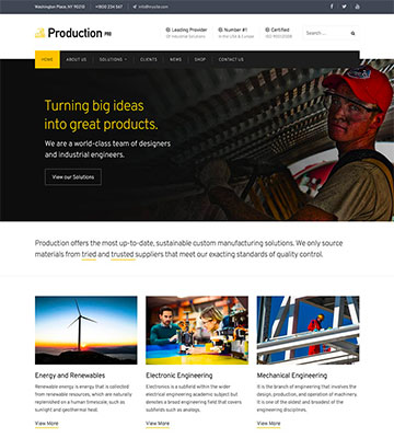 Production Pro WordPress Theme