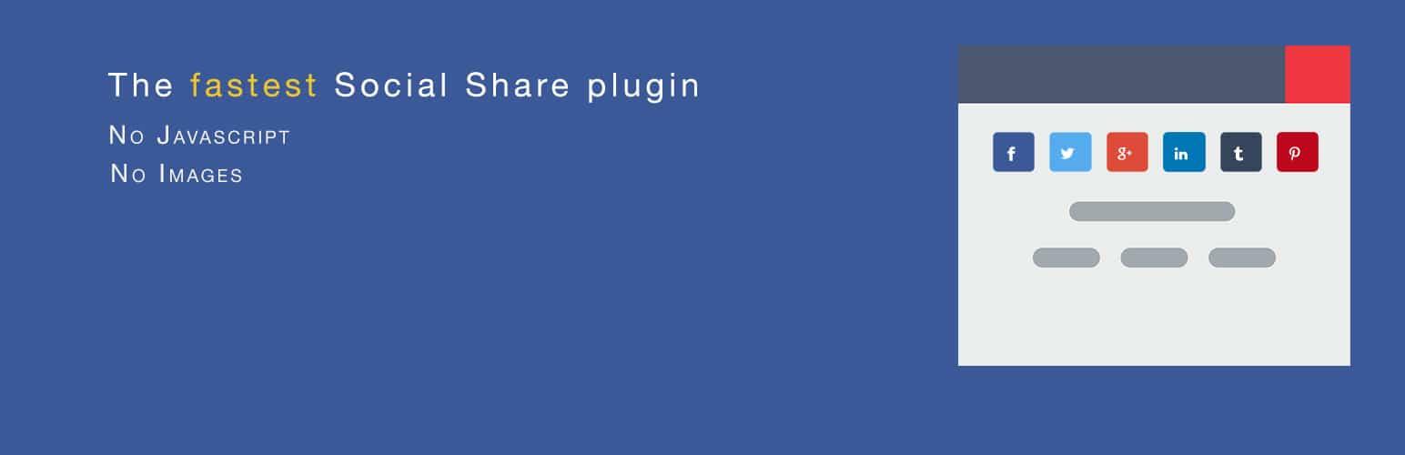 Ultra Light Social Share Buttons Plugin