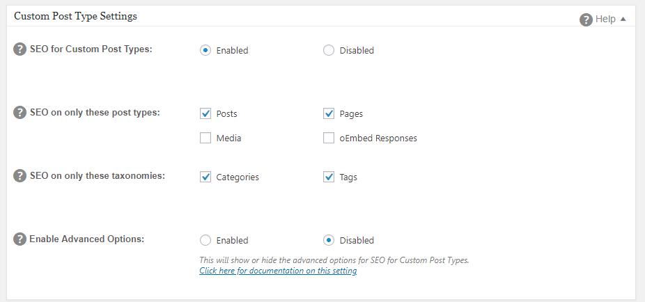 enabling on custom post types
