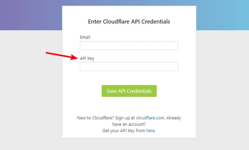 enter cloudflare api
