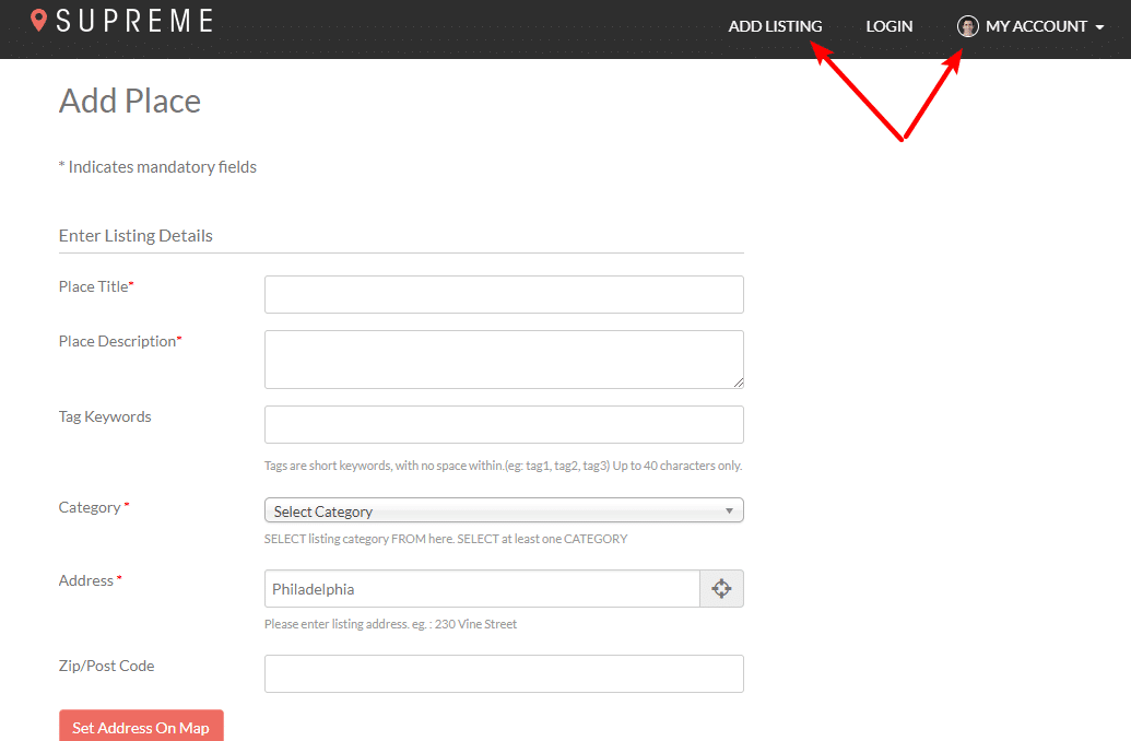 frontend add place