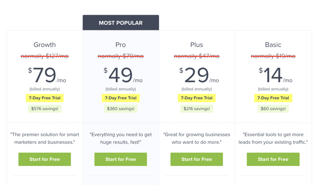 OptinMonster Pricing Plans
