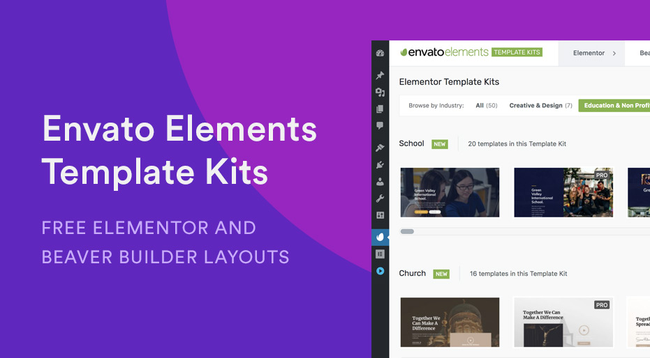 Envato Elements - Template Kits Plugin Review - Create and Code