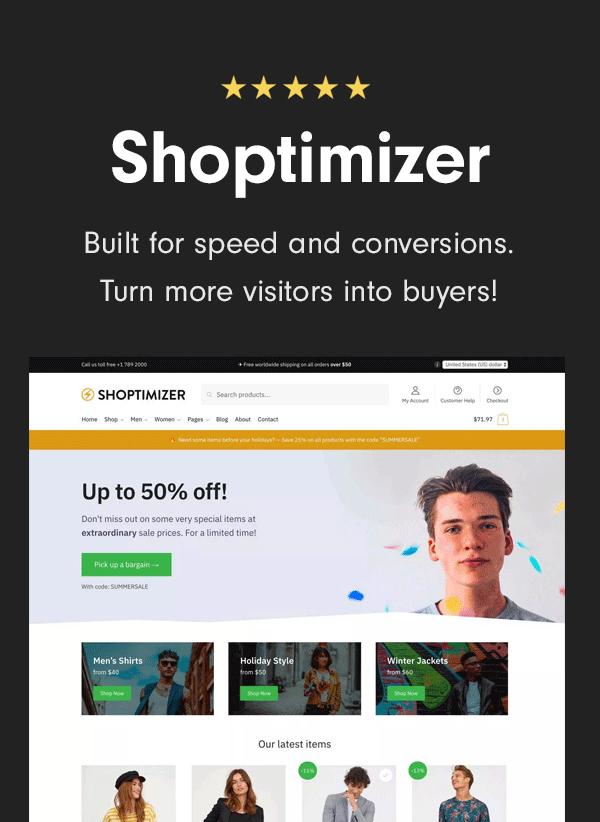 Shoptimizer WooCommerce Theme
