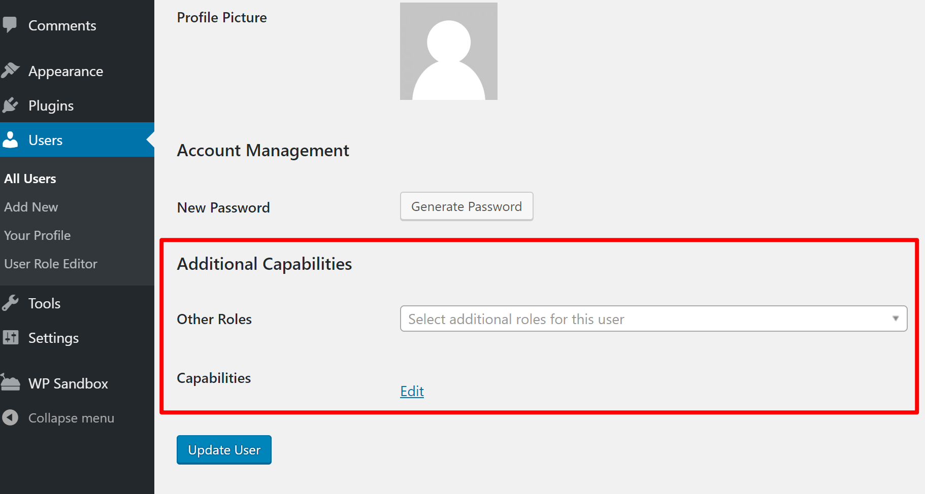 Assign multiple WordPress roles and capabilities